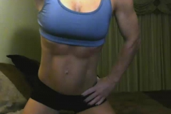 webcam muscle girl abs