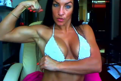 horny Clit - muscle girl